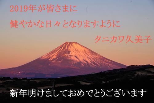 新年の挨拶タニカワ久美子
